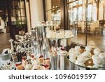 beautiful candy bar of pink and ... | Shutterstock . vector #1096019597