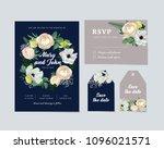 vector wedding invitation on... | Shutterstock .eps vector #1096021571