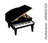 piano instrument illustration | Shutterstock .eps vector #1096022324