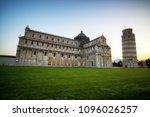 leaning tower of pisa in pisa ... | Shutterstock . vector #1096026257