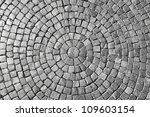 Texture Of Cobblestone In Old...
