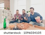 portrait of cheerful  funny... | Shutterstock . vector #1096034105