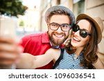 portrait of cheerful young...   Shutterstock . vector #1096036541