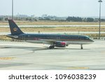 Small photo of Queen Alia Airport, Amman, Jordan - May 19, 2018 The Royal Jordanian plane on the runway in preparation for the departure and departure of passengers in Queen Alia Airport, Amman