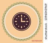 clock icon  vector design...   Shutterstock .eps vector #1096043969