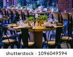the hall for celebrations is... | Shutterstock . vector #1096049594