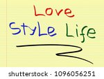 love style life | Shutterstock . vector #1096056251