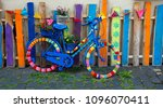 Colorful Bicycle Stands On A...