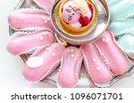 elegant french pastry glazed...   Shutterstock . vector #1096071701
