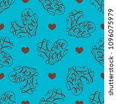seamless pattern.  hearts on...   Shutterstock .eps vector #1096075979