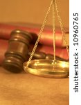 legal concept with scales of... | Shutterstock . vector #10960765
