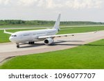 widebody passenger airplane.... | Shutterstock . vector #1096077707