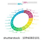 set of cycle percentage flow... | Shutterstock .eps vector #1096083101