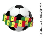 Soccer Football With Senegal...