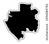 black silhouette of the country ... | Shutterstock .eps vector #1096084781