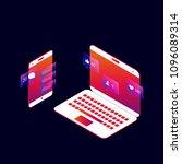 social media and social network ...   Shutterstock .eps vector #1096089314