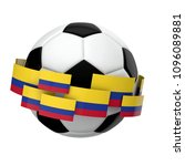 soccer football with colombia... | Shutterstock . vector #1096089881