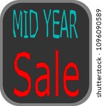 mid year sale banner.red text... | Shutterstock .eps vector #1096090589