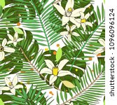 floral seamless pattern.... | Shutterstock . vector #1096096124