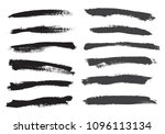 vector brush strokes.set of...   Shutterstock .eps vector #1096113134
