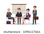 business communication people ... | Shutterstock .eps vector #1096117661