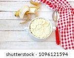sweet millet porridge with... | Shutterstock . vector #1096121594