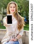 close up white smartphone...   Shutterstock . vector #1096124207