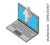 laptop upload browsing data... | Shutterstock .eps vector #1096131467