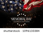 american flag with the text... | Shutterstock . vector #1096133384