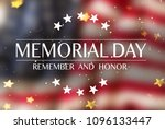 american flag with the text... | Shutterstock . vector #1096133447