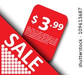 3d sale tag design | Shutterstock .eps vector #109613687