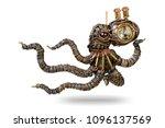 a fantastic figure of an... | Shutterstock . vector #1096137569