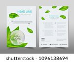 green ecology design on... | Shutterstock .eps vector #1096138694