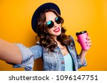 self portrait of cheerful... | Shutterstock . vector #1096147751