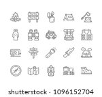 set of camping outline icons... | Shutterstock .eps vector #1096152704