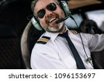 Confident Pilot With Headset...