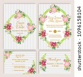 vector set of invitation cards... | Shutterstock .eps vector #1096158104