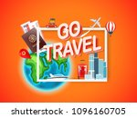 go travel. vector illustration | Shutterstock .eps vector #1096160705