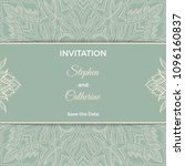 save the date invitation card... | Shutterstock .eps vector #1096160837