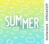 summer. creative isometric... | Shutterstock .eps vector #1096164329