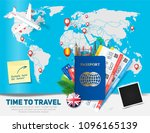 banner concept for travel and... | Shutterstock .eps vector #1096165139
