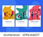 set of flat vertical banners... | Shutterstock .eps vector #1096166657