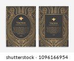 gold vintage greeting card on a ... | Shutterstock .eps vector #1096166954