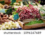 fresh bio vegetables and herbs... | Shutterstock . vector #1096167689
