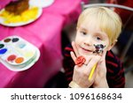 face painting for cute little... | Shutterstock . vector #1096168634