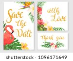save the date. wedding cards... | Shutterstock .eps vector #1096171649