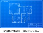 architecture sketch of house... | Shutterstock .eps vector #1096172567