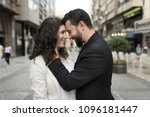 couple in the street having... | Shutterstock . vector #1096181447
