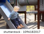 little boy having fun on... | Shutterstock . vector #1096182017