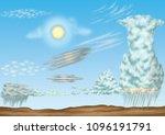 cloud  cloud types   list of... | Shutterstock . vector #1096191791